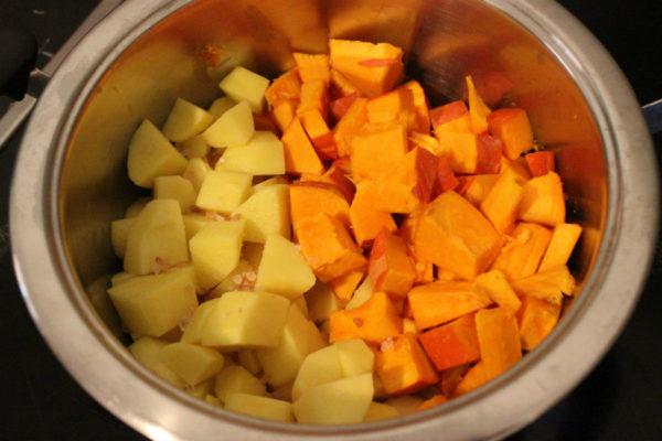 Kartoffelstampf mit Würstchen 02